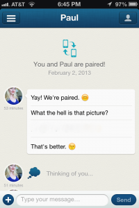 Screen shot of Couple, an app