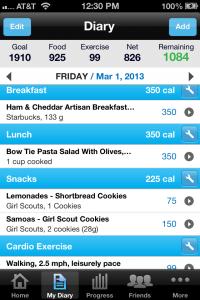 My Fitness Pal screenshot