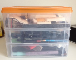 beauty products, storage, organization