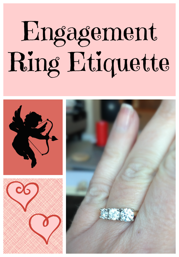 Wedding, Engagement Ring Etiquette: What am I supposed to do here?
