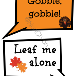 Thanksgiving Photo Booth Props