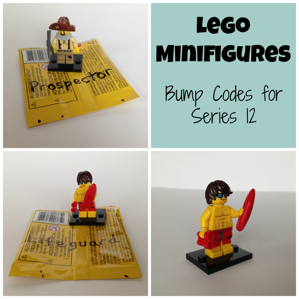 LEGO Minifigure bump codes series 12