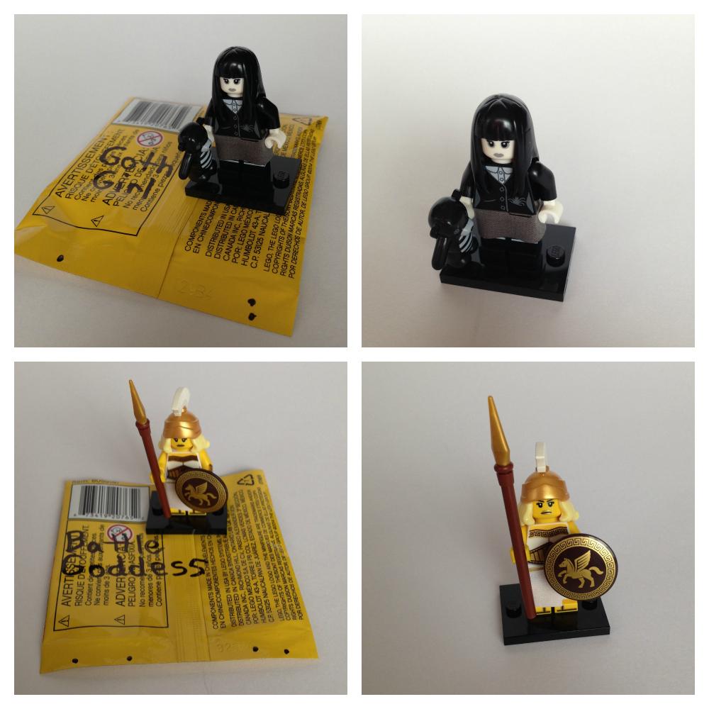 Lego minifigures bump codes series 12
