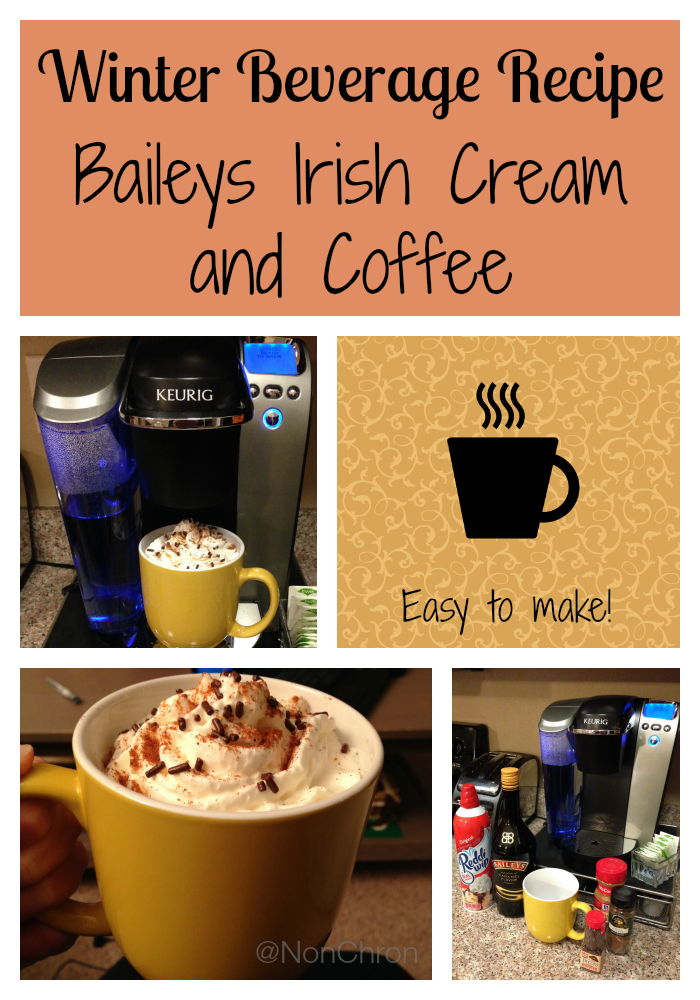 Winter Beverages: Baileys Irish Cream and Coffee