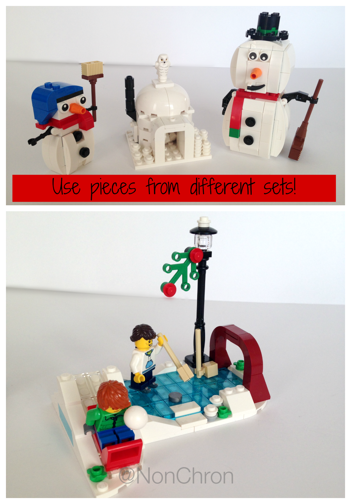 Lego christmas decorations winter village ideas for Decoration lego