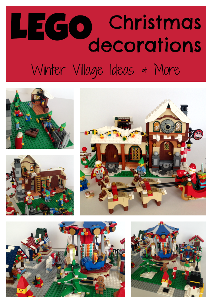 lego christmas decorations winter village ideas