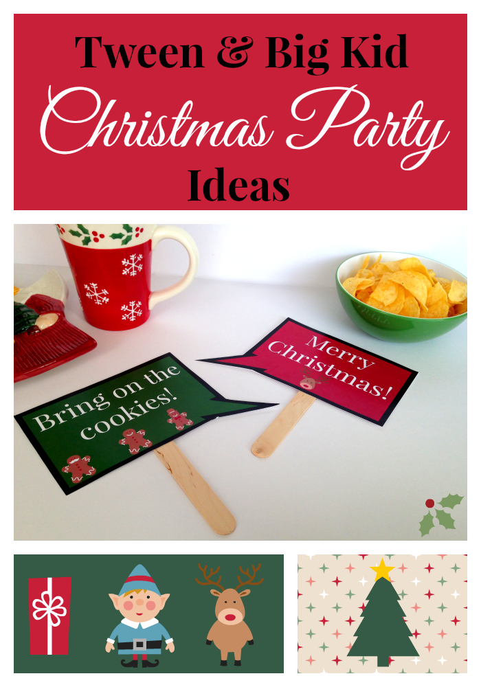 Tween& Big Kid Christmas party ideas
