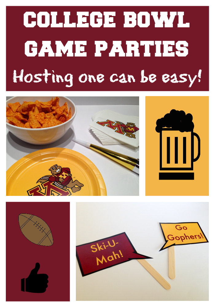 College bowl game party ideas: Three quick tips