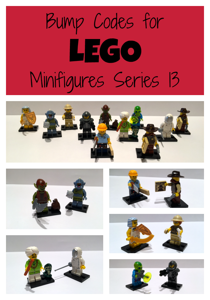 LEGO minifigures series 13 bump codes