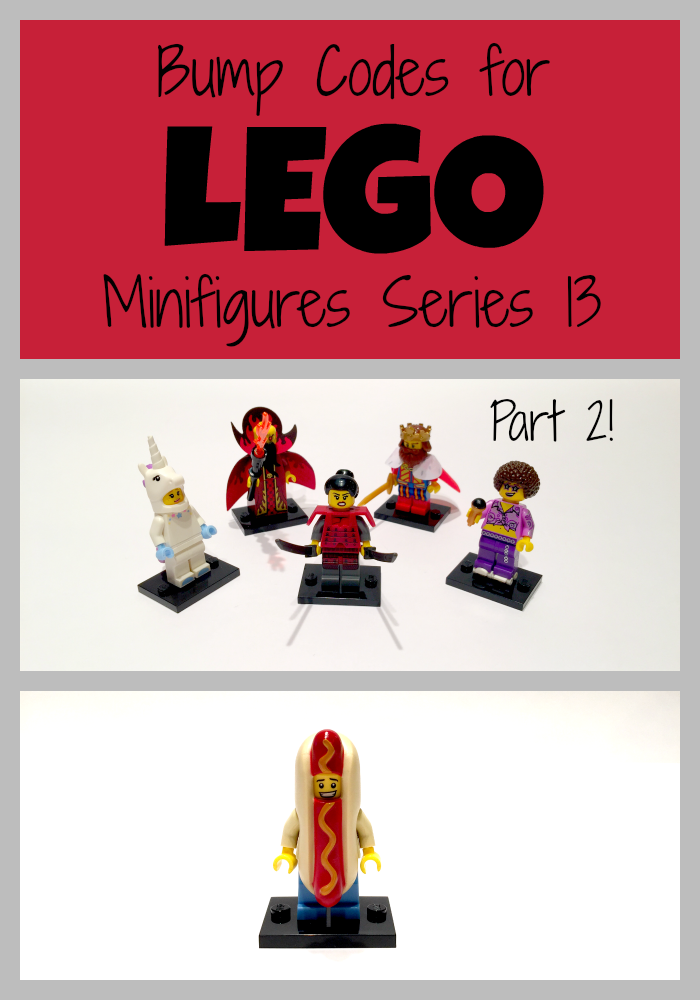 LEGO minifigures series 13 bump codes (part 2)