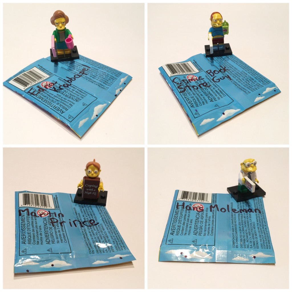 LEGO Minifigures bump codes Simpsons