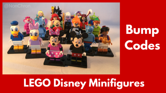 LEGO Disney Minifigures Bump Codes: Mystery bags of fun!