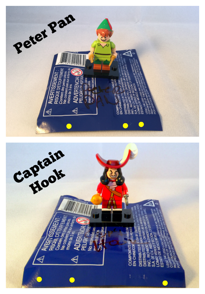 Peter Pan & Captain Hook LEGO Disney Minifigures Bump Codes