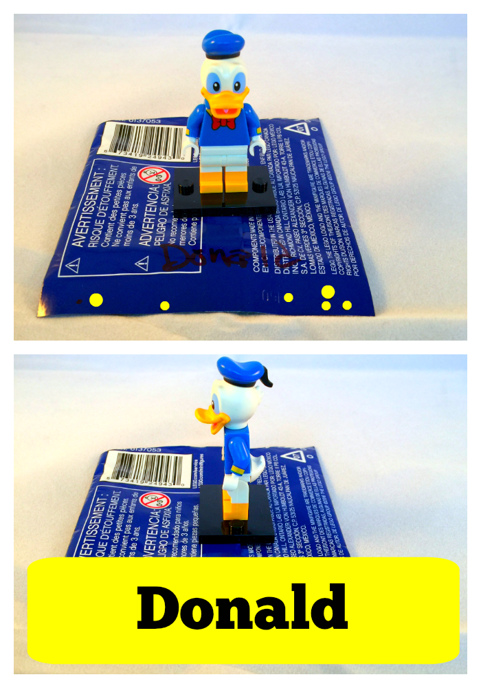 Donald Duck LEGO Disney Minifigures Bump Codes