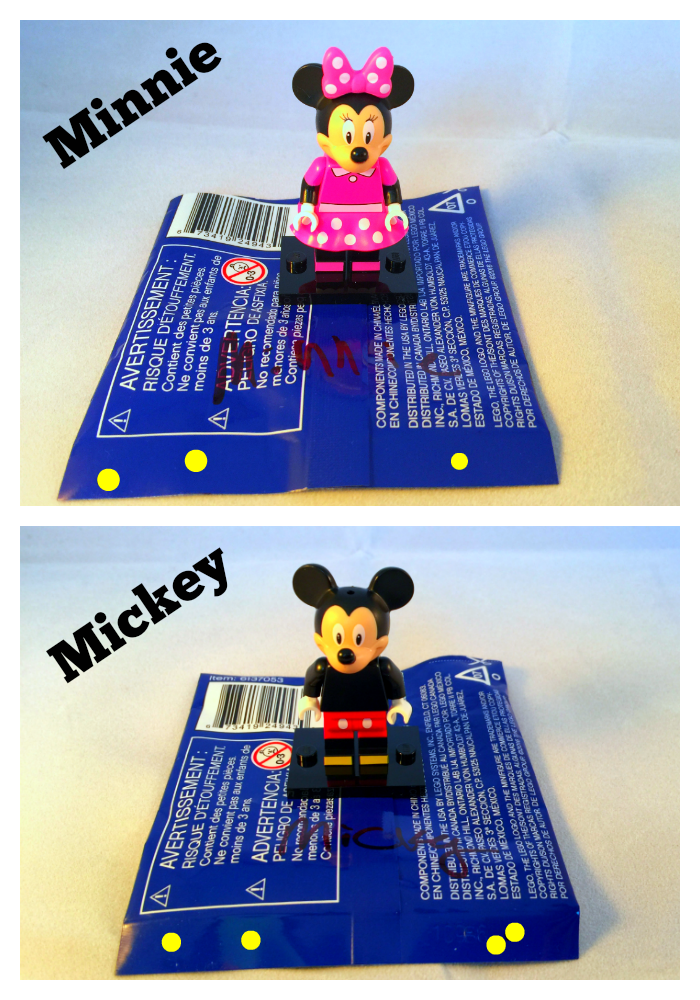 Minnie & Mickey LEGO Disney Minifigures Bump Codes