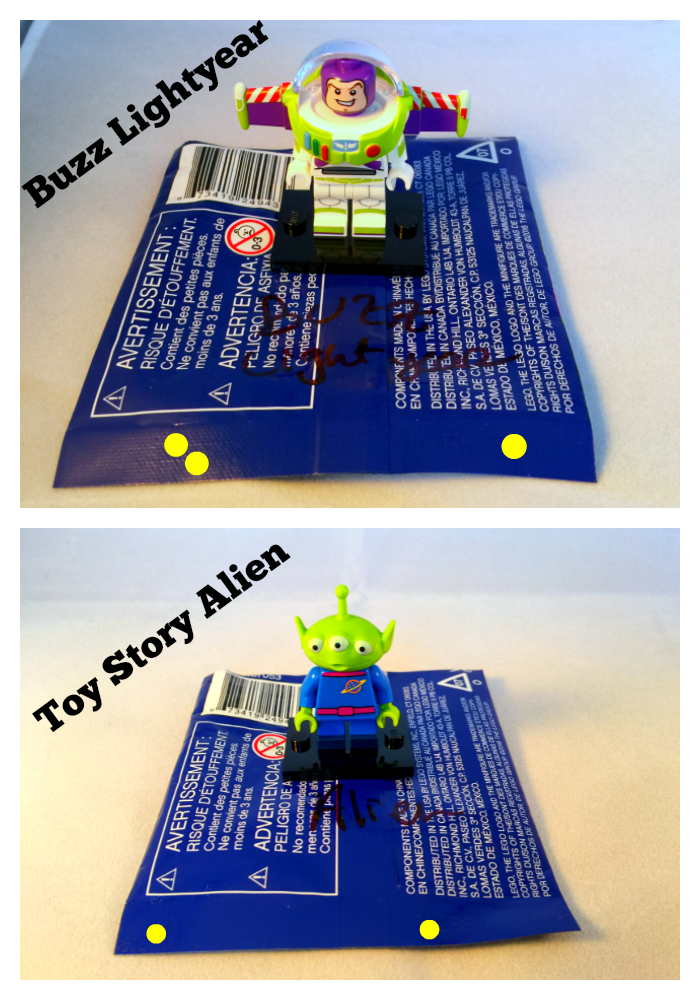 Buzz Lightyear & Alien LEGO Disney Minifigures Bump Codes